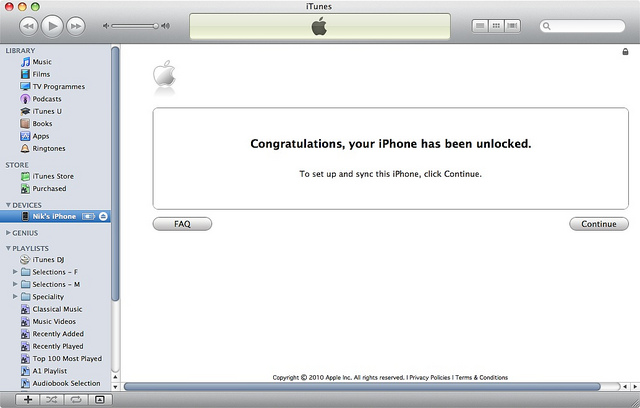 Apple iPhone Unlocking Instructions